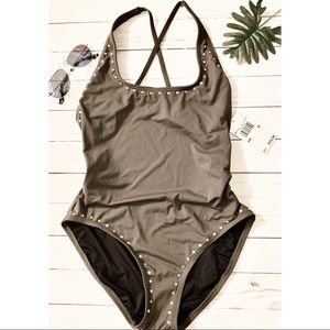 NWT Michael Kors Studded Swimsuit